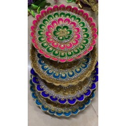 Decorated Aarti Plate